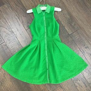A/X Armani Exchange lightweight knit green dress